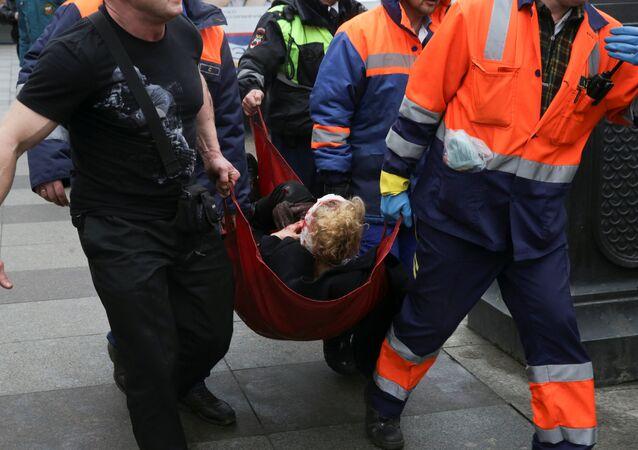 Une personne blessée dans l'explosion survenue dans le métro de Saint-Pétersbourg