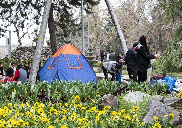 Le dernier jour des fêtes du Nouvel an persan à Téhéran