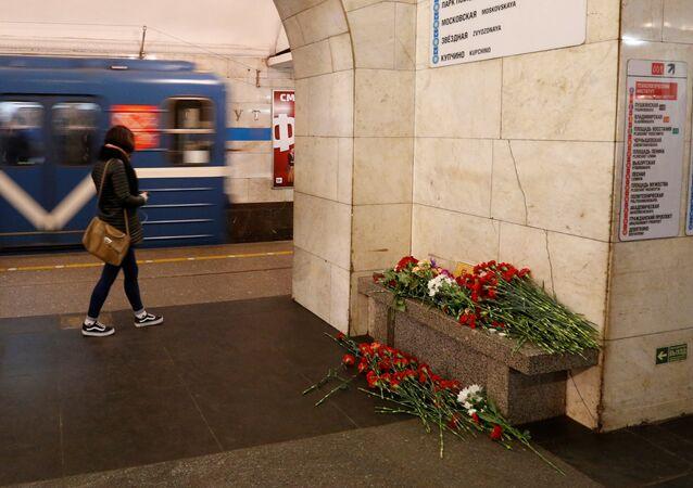 Le lieu de l'attentat de Saint-Pétersbourg