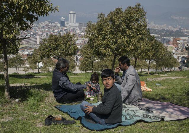 Réfugiés syriens dans la ville turque d'Izmir