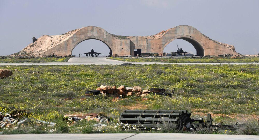 La base militaire Shayrat en Syrie. Photo d'archive