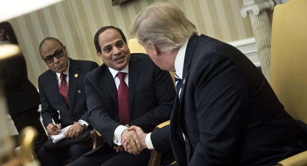 Abdel Fattah al-Sisi et Donald Trump