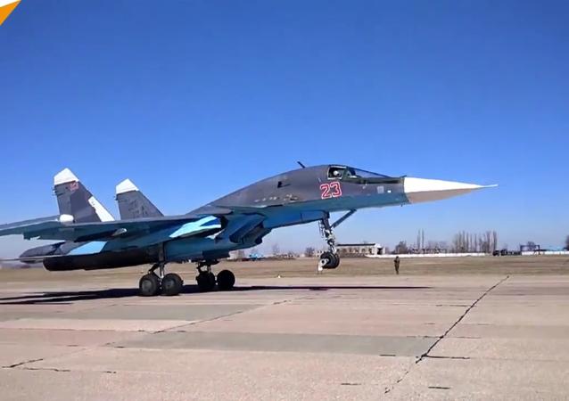 Exercices de bombardement des Su-34
