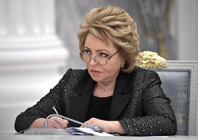 La présidente du Conseil de la Fédération, Valentina Matvienko