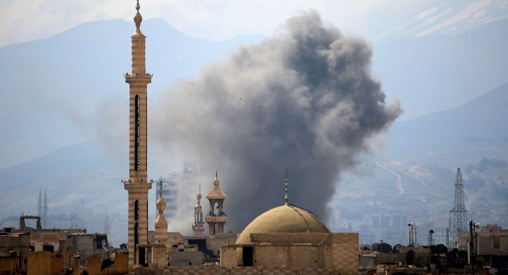 Une mosquée à Damas