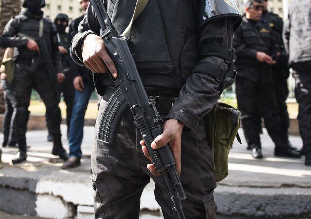 La police égyptienne. Photo d'archive