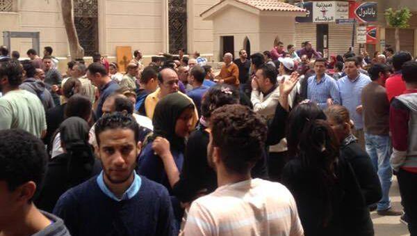 تفجير كنيسة مار جرجس في مدينة طنطا بمحافظة الغربية في مصر - Sputnik France