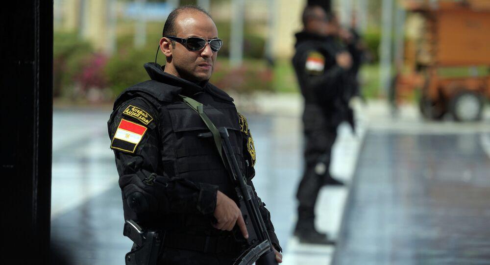Police égyptienne. Image d'illustration