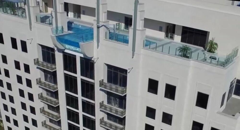 Une piscine exclusivement réservée aux amateurs de sensations fortes (vidéo)
