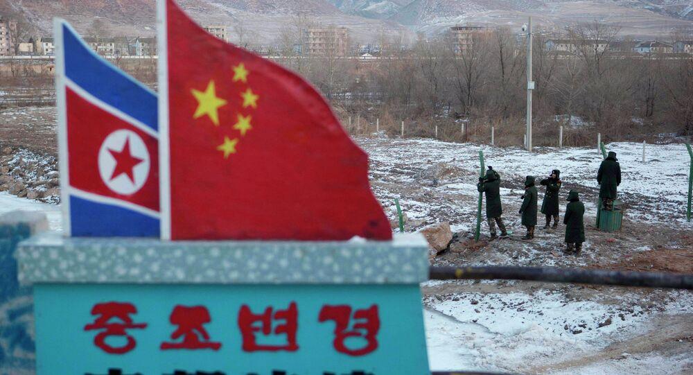 La frontière entre la Chine et la Corée du Nord