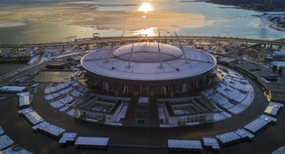 Stade Krestovski à Saint-Pétersbourg