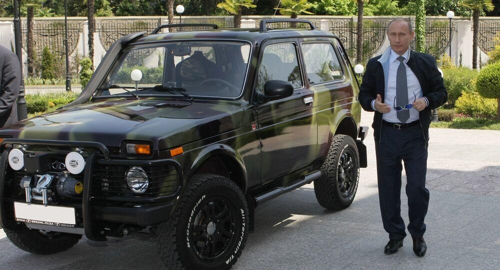 Le Président Poutine et sa Lada Niva.