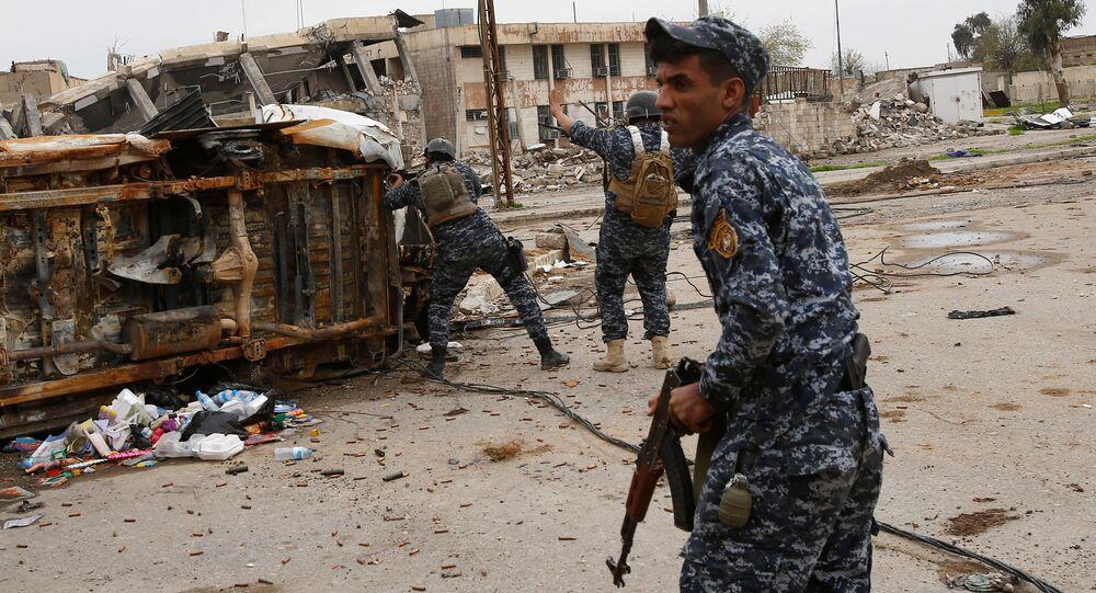 Policier irakien à Mossoul