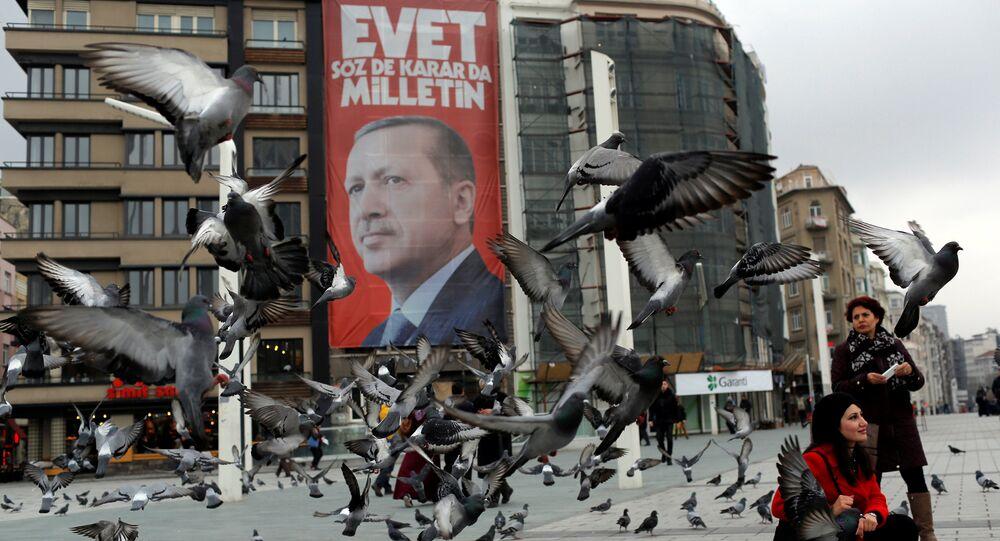Une bannière en Turquie