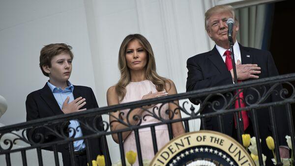 Melania, Barron et Donald Trump - Sputnik France