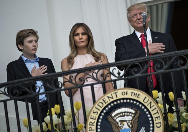Melania, Barron et Donald Trump