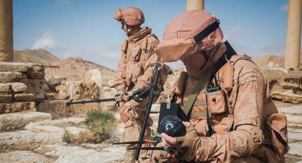 Les robots russes «Scarabée » et «Sphère» déminent Palmyre