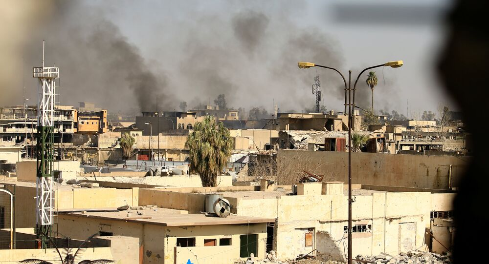 Bombardements à Mossoul