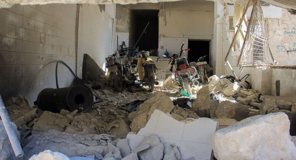L'hôpital de Khan Cheikhoun endommagé lors de l'attaque chimique présumée du 4 avril