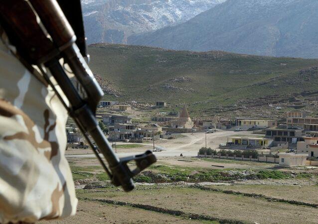Région de Sinjar, qui s'étend de Mossoul à la Syrie, au sud de la frontière turque