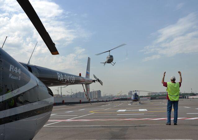 Des hélicoptères à Moscou