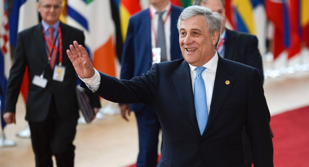 Antonio Tajani, président du Parlement européen
