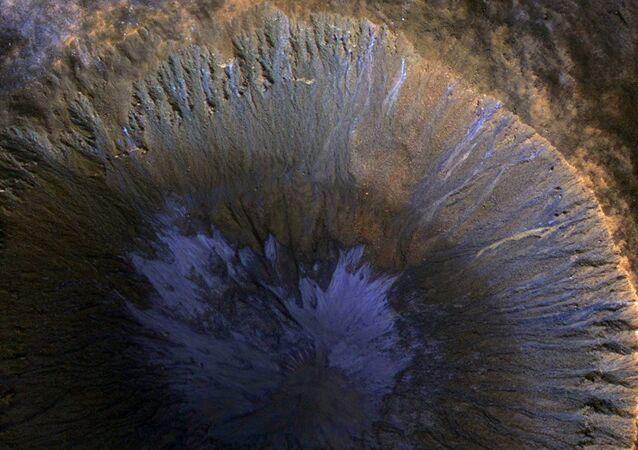 Un cratère sur Mars