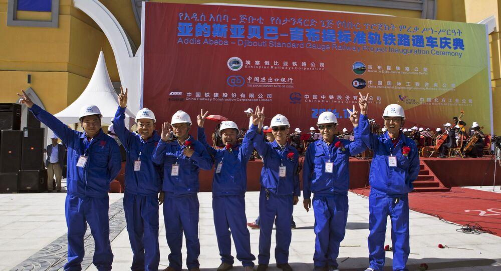 Ouvriers chinois en Afrique