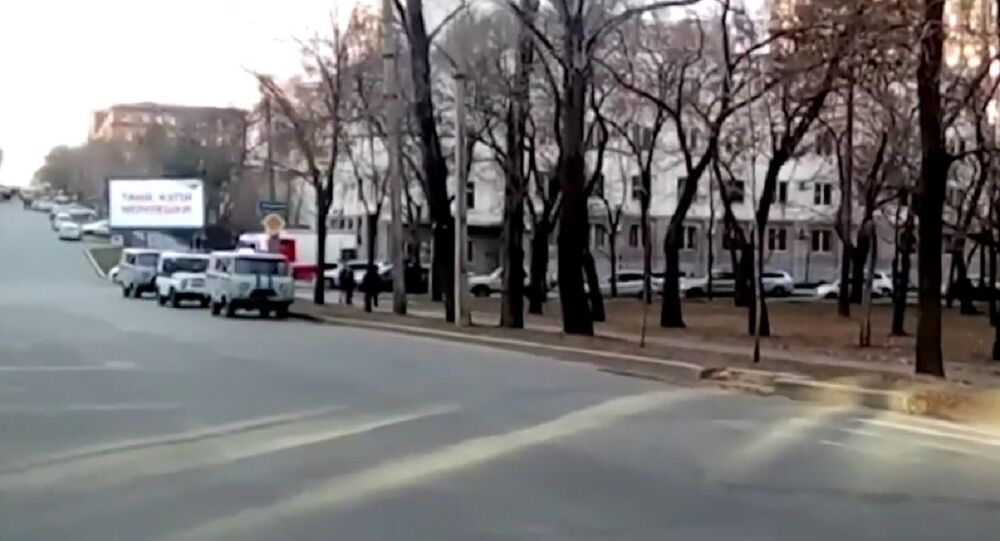 Attack on the Federal Security Service (FSB) receiving office in Russia's Far Eastern city of Khabarovsk