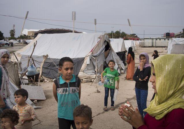 Un camp de réfugiés syriens