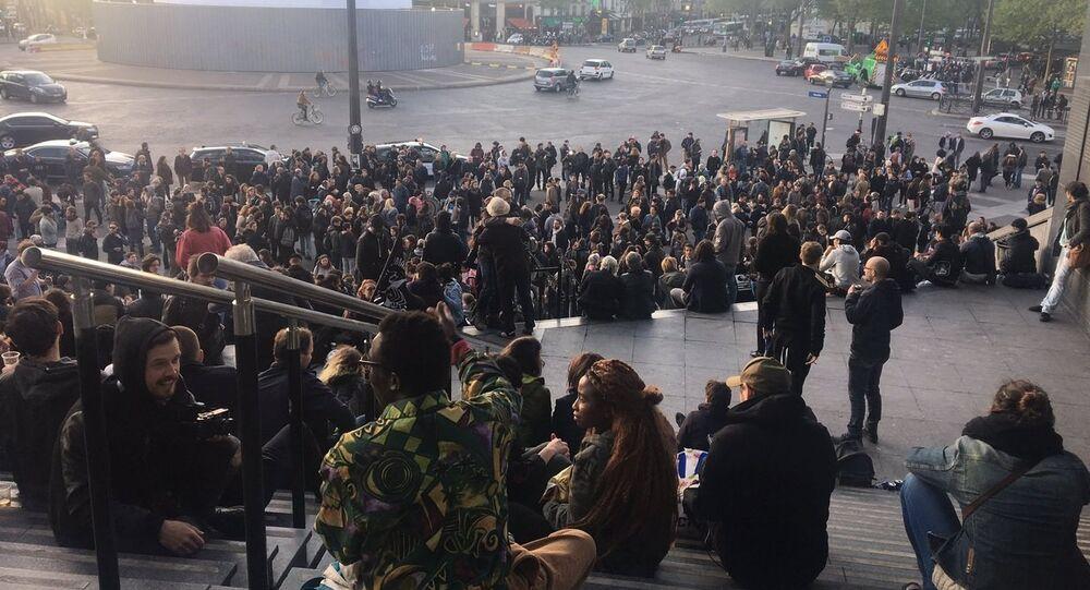 Manifestants du centre de Paris