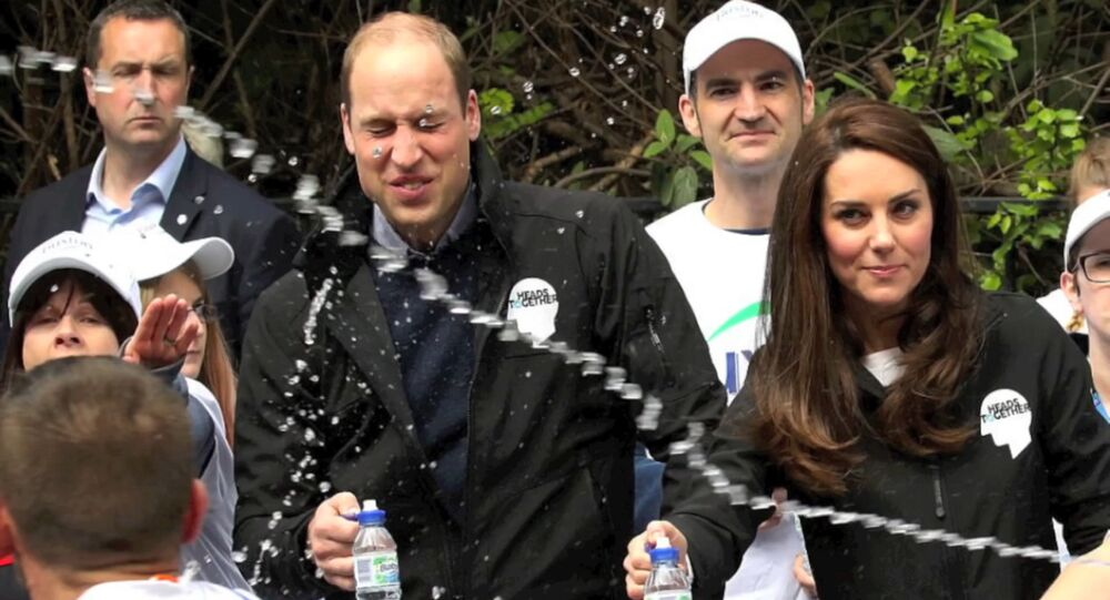 Prince William lors du marathon de Londres