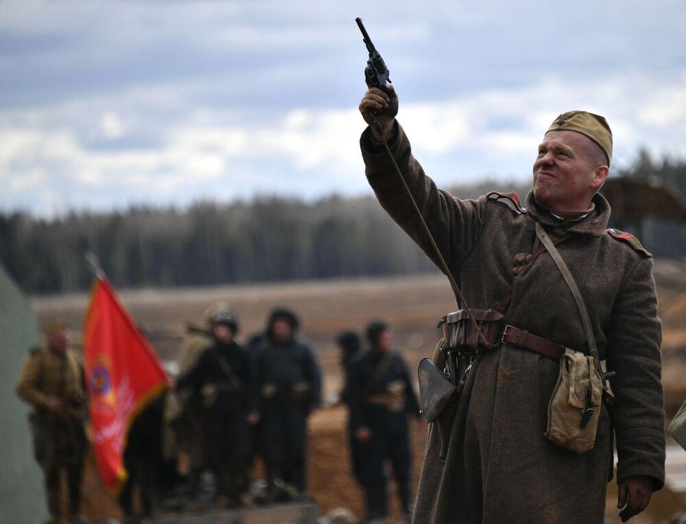 La bataille de Berlin reconstituée dans la région de Moscou