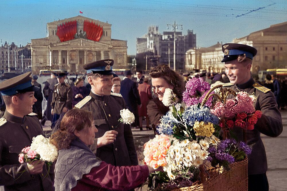 La Fête de la Victoire à Moscou, le 9 mai 1945