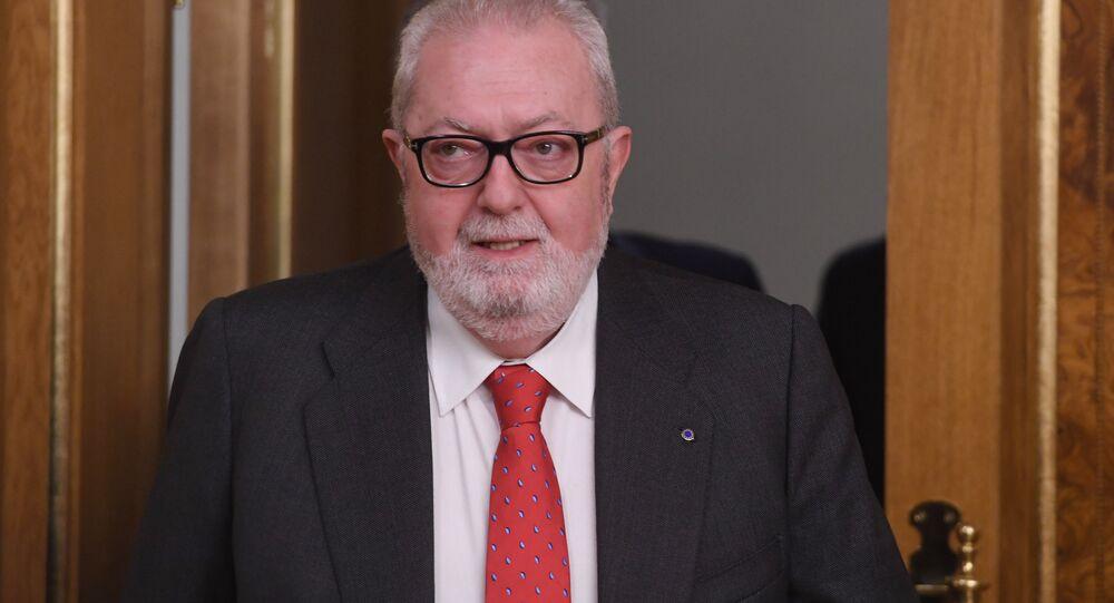 Pedro Agramunt, el presidente de la Asamblea Parlamentaria del Consejo Europeo (PACE)