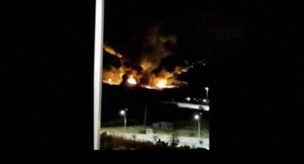 Explosion près de l'aéroport de Damas. Archive photo