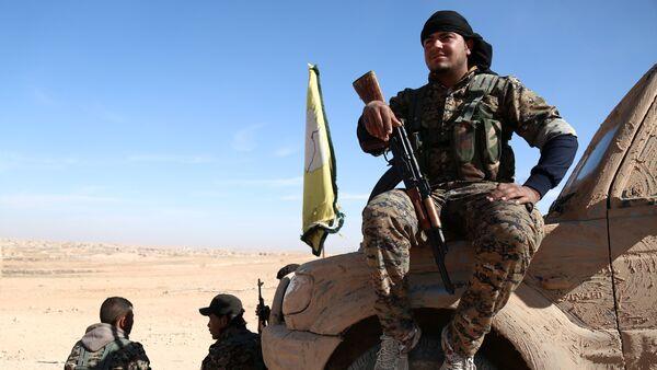 Membre des Forces démocratiques syriennes près de Raqqa - Sputnik France