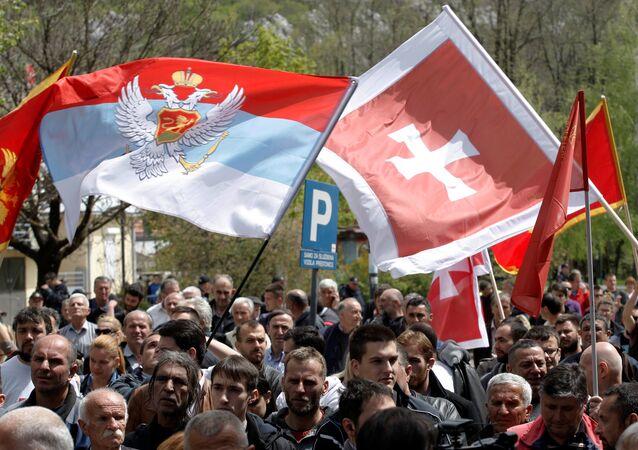 Protestation contre l'adhésion à l'Otan