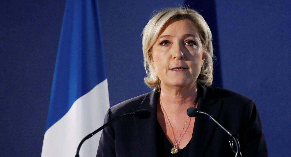Marine Le Pen en tête dans deux départements français