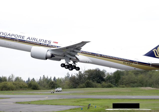 Un Boeing 777 de Singapore Airlines (image d'illustration)