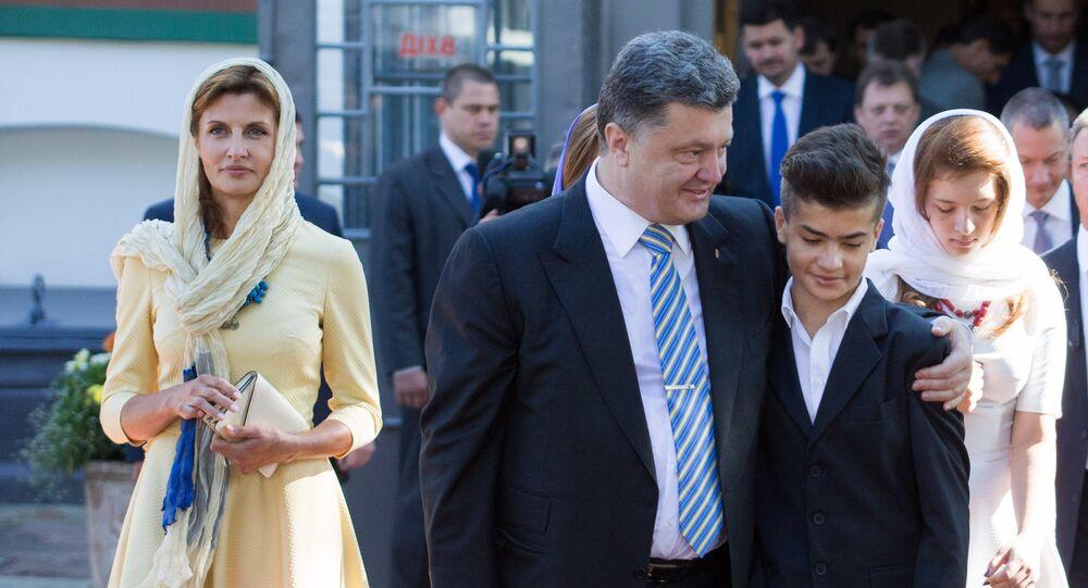 Piotr Porochenko et son fils cadet Mikhaïl