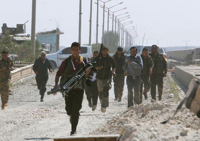 Combattants des Forces démocratiques syriennes