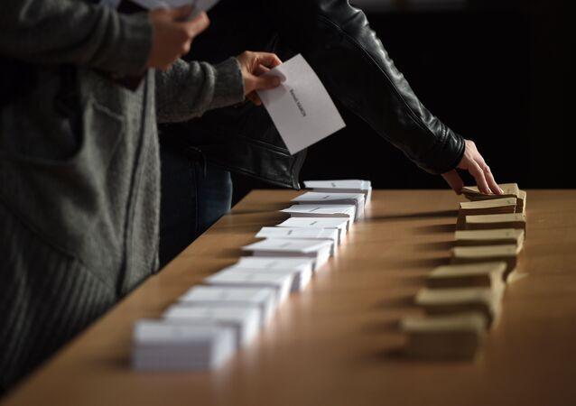 bulletin de vote, photo d'illustration