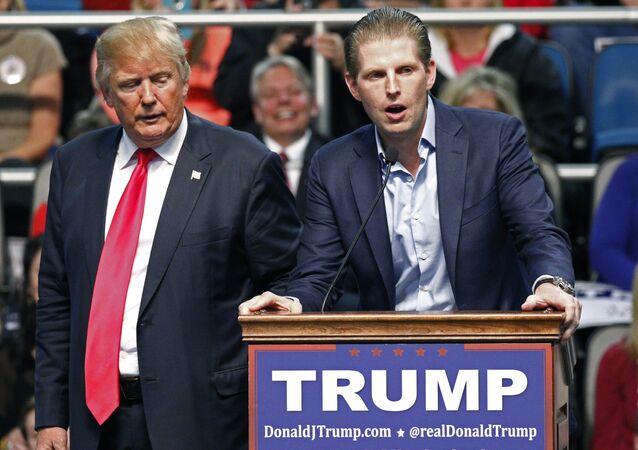 Donald Trump et son fils Eric, 2016