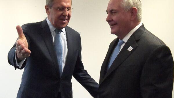 Sergueï Lavrov et Rex Tillerson - Sputnik France