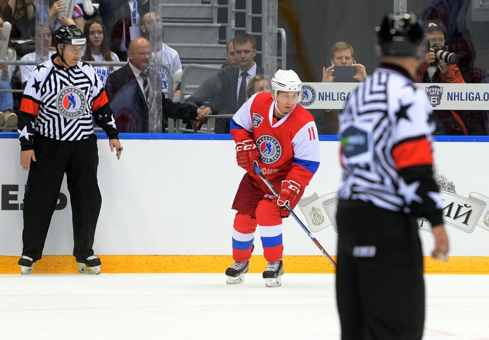Sept buts avec l'équipe des «Légendes»: Poutine a participé à un match de la LNH