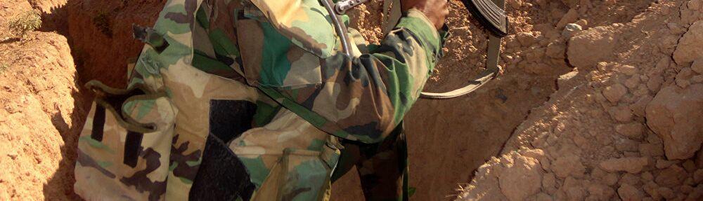 Un soldat de l'armée syrienne à Deir ez-Zor