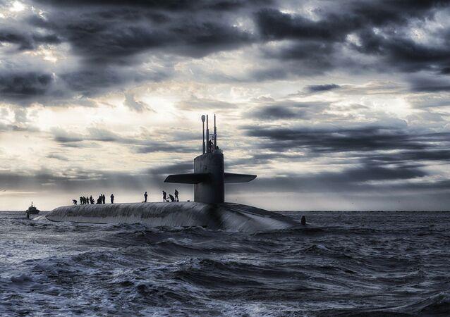 Un sous-marin, image d`illustration