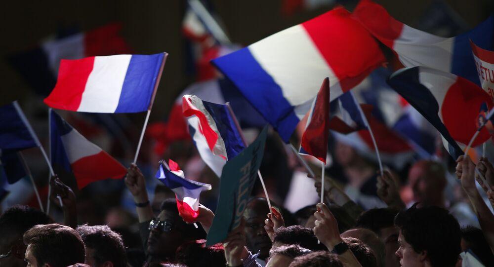 Les partisans du parti Les Républicains à Paris