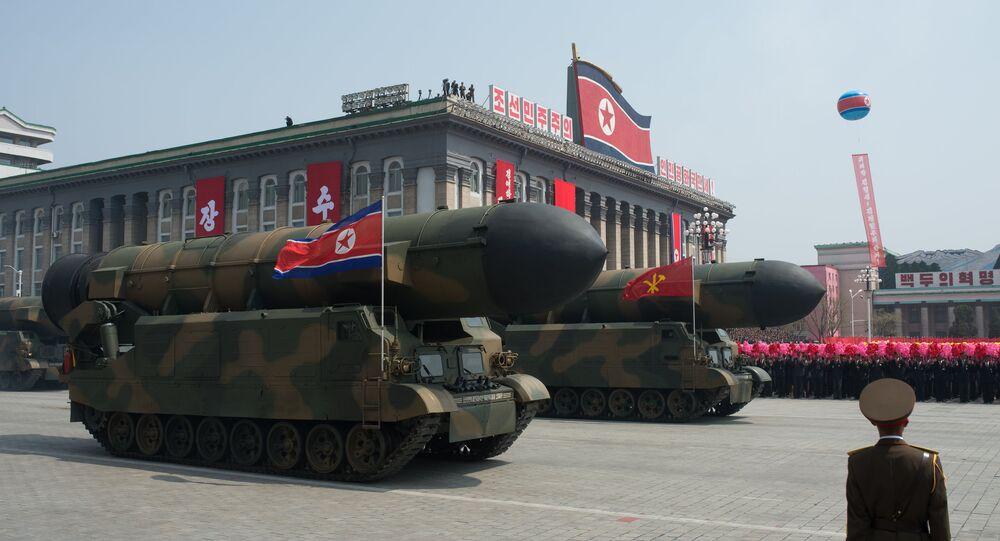 Missiles balistiques intercontinentales nord-coréens. Image d'illustration